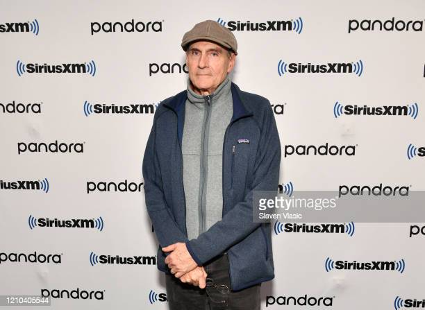 Singer/songwriter James Taylor visits SiriusXM Studios on March 04 2020 in New York City