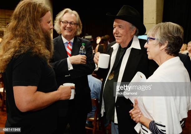 Singer/Songwriter Jamey Johnson Kyle Young Director and CEO CMHOF Hall of Fame member Bobby Bare and Country Music Hall of Fame and Museum's Senior...