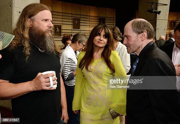 Singer/Songwriter Jamey Johnson Singer/Songwriter/Sirius radio host Deborah Allen and CMHOF member Bobby Braddock attends the 2014 Country Music Hall...