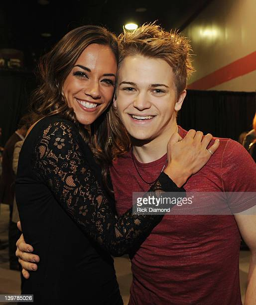 Singer/Songwriter Jana Kramer and Singer/Kramer Hunter Hayes backstage at the New Faces of Country Music dinner and performance during the CRS 2012...