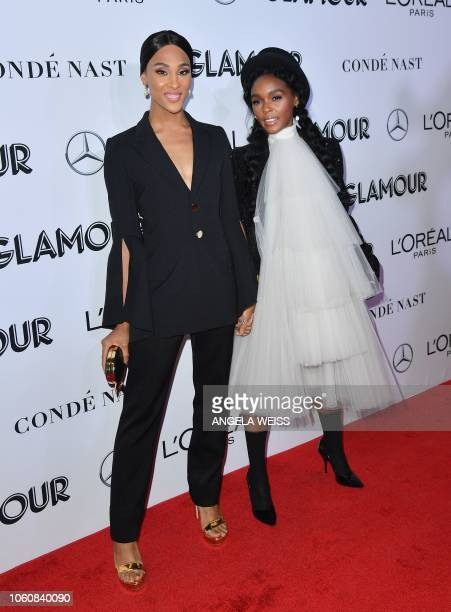 Singersongwriter Janelle Monae and actress Mj Rodriguez attend the 2018 Glamour Women Of The Year Awards Women Rise on November 12 2018 in New York...