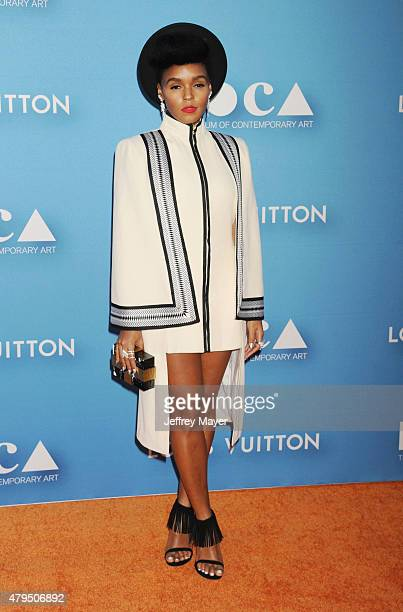 Singer/songwriter Janelle Monae arrives at the 2015 MOCA Gala presented by Louis Vuitton at The Geffen Contemporary at MOCA on May 30 2015 in Los...