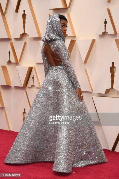 Singer-songwriter Janelle Monae arrives for the 92nd Oscars at the Dolby Theatre in Hollywood, California on February 9, 2020.