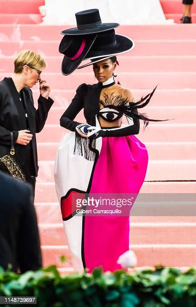 Singer-songwriter Janelle Monae is seen arriving to the 2019 Met Gala Celebrating Camp: Notes on Fashion at The Metropolitan Museum of Art on May 6,...