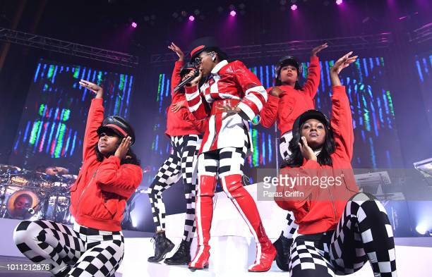 Singer/songwriter Janelle Monae performs during her 'Dirty Computer' Tour at The Tabernacle on August 4 2018 in Atlanta Georgia