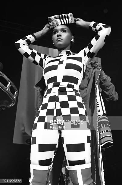 Singer/songwriter Janelle Monae performs during her Dirty Computer Tour at The Tabernacle on August 4 2018 in Atlanta Georgia