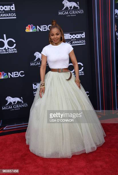 Singer/songwriter Janet Jackson attends the 2018 Billboard Music Awards 2018 at the MGM Grand Resort International on May 20 in Las Vegas Nevada