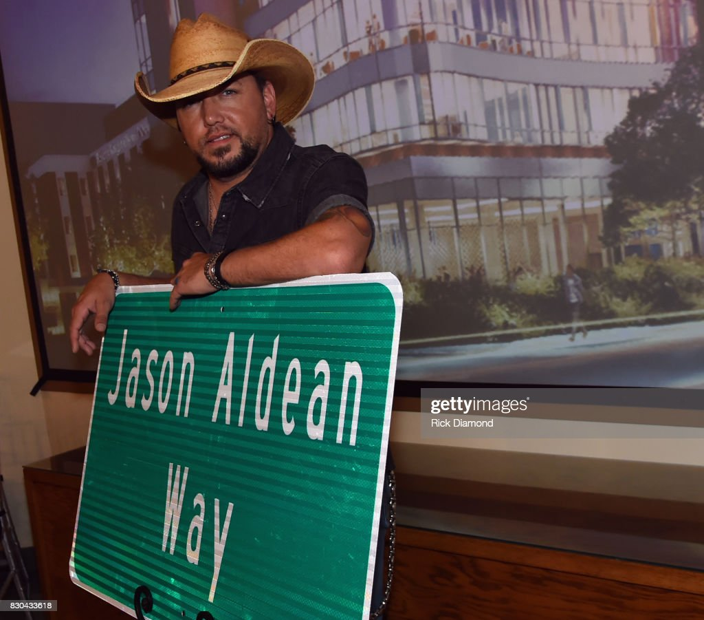 Jason Aldean Street Dedication & News Conference