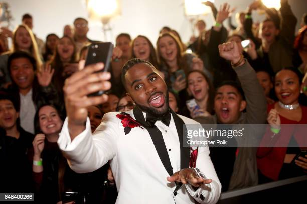 Singersongwriter Jason Derulo attends the 2017 iHeartRadio Music Awards which broadcast live on Turner's TBS TNT and truTV at The Forum on March 5...