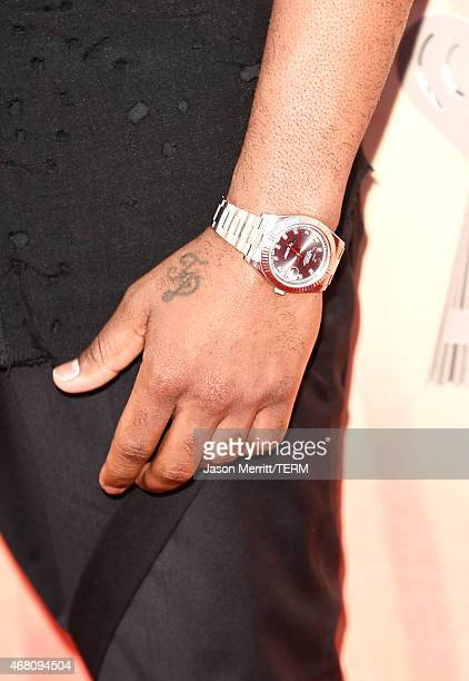 Singer/songwriter Jason Derulo watch detail attends the 2015 iHeartRadio Music Awards which broadcasted live on NBC from The Shrine Auditorium on...