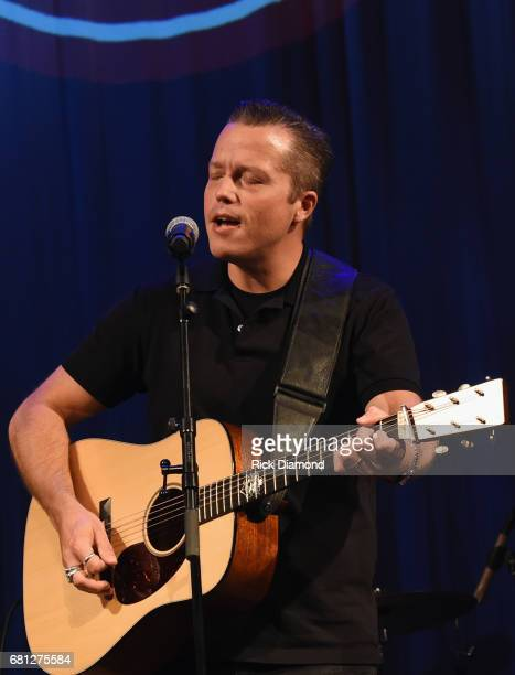 Singer/Songwriter Jason Isbell performs during The Americana Music Honors Awards Nominations Ceremony in The Ford Theater at The Country Music Hall...