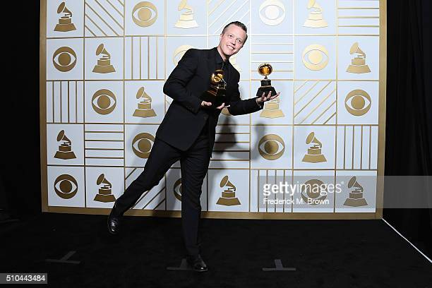Singer/songwriter Jason Isbell winner of Best American Album for 'Something More Than Free' and Best American Roots Song for '24 Frames' poses in the...