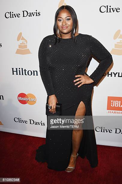 Singersongwriter Jazmine Sullivan attends the 2016 PreGRAMMY Gala and Salute to Industry Icons honoring Irving Azoff at The Beverly Hilton Hotel on...