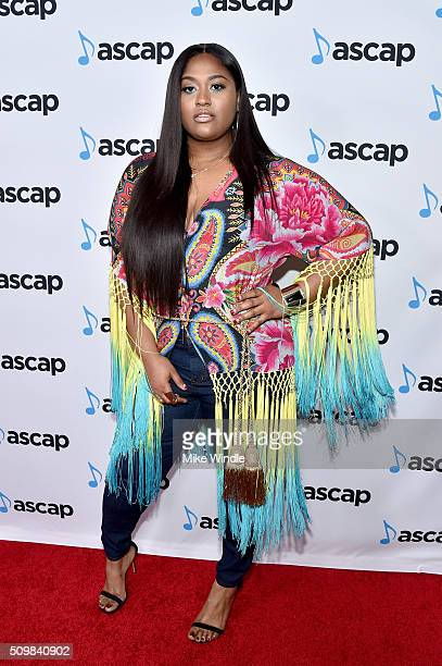 Singersongwriter Jazmine Sullivan attends the ASCAP Grammy Nominees Reception at SLS Hotel on February 12 2016 in Beverly Hills California