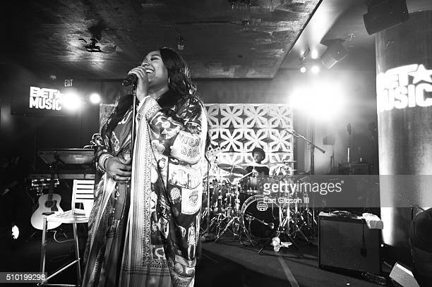 Singer/Songwriter Jazmine Sullivan performs at the BET Music Matters Grammy Showcase at W Hollywood on February 13 2016 in Hollywood California
