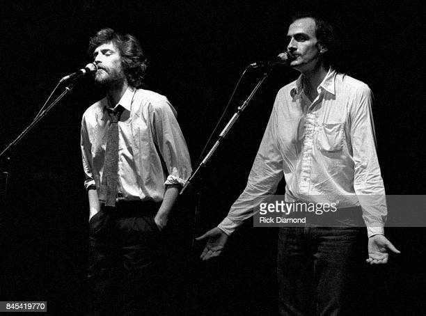 Singer/Songwriter JD Souther and James Taylor perform at The Atlanta Civic Center in Atlanta Georgia May 13 1981