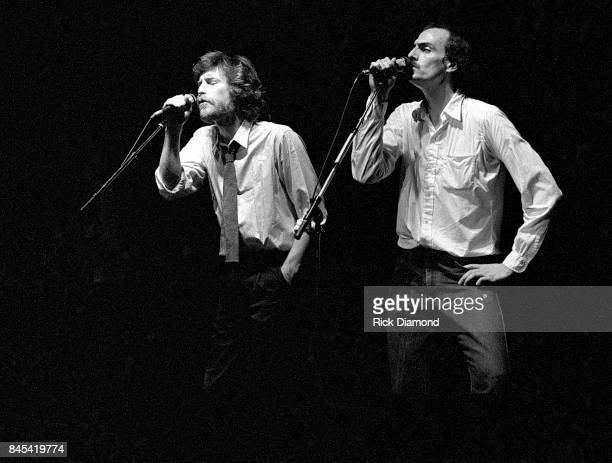 Singer/Songwriter J.D. Souther and James Taylor perform at The Atlanta Civic Center in Atlanta Georgia May 13, 1981