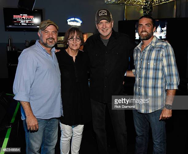 Singer/Songwriter Jeff Prince Suzi Cochran Singer/Songwriters Byron Hill and Clint Daniels backstage during Songwriters 4 Songwriters Inaugural...