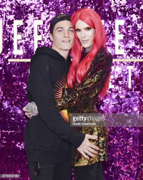 Singersongwriter Jeffree Star and Nathan Schwandt pose for portrait at the 3rd annual RuPaul's DragCon at Los Angeles Convention Center on April 30...
