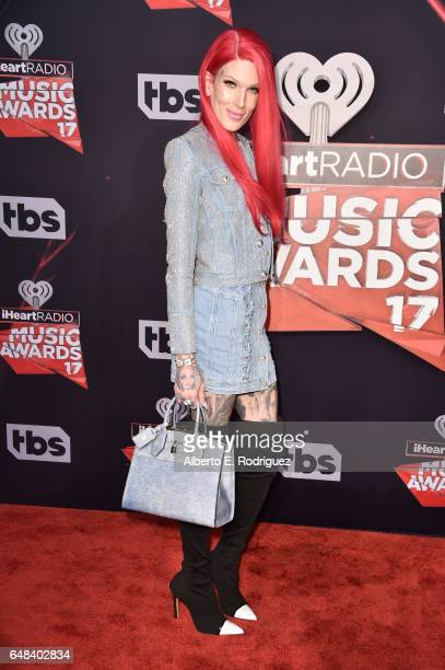 Singersongwriter Jeffree Star attends the 2017 iHeartRadio Music Awards which broadcast live on Turner's TBS TNT and truTV at The Forum on March 5...