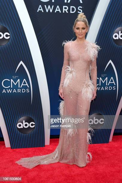 Singersongwriter Jennifer Nettles of musical duo Sugarland attends the 52nd annual CMA Awards at the Bridgestone Arena on November 14 2018 in...
