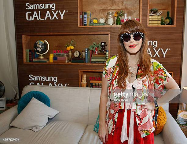Singer/songwriter Jenny Lewis attends the Samsung Galaxy Artist's Lounge at the Austin City Limits Music Festival on October 5 2014 in Austin Texas