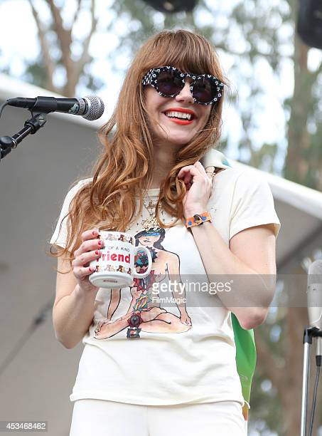 Singer/songwriter Jenny Lewis performs at the Sutro Stage during day 3 of the 2014 Outside Lands Music and Arts Festival at Golden Gate Park on...