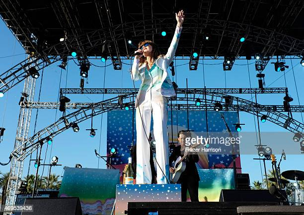 Singersongwriter Jenny Lewis performs onstage during day 3 of the 2015 Coachella Valley Music Arts Festival at the Empire Polo Club on April 12 2015...