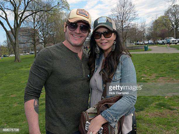Singer/Songwriter Jerrod Niemann and Wife Morgan Petek attend the 3rd Annual Craig Campbell Celebrity Cornhole Challenge to Fight Colorectal Cancer...