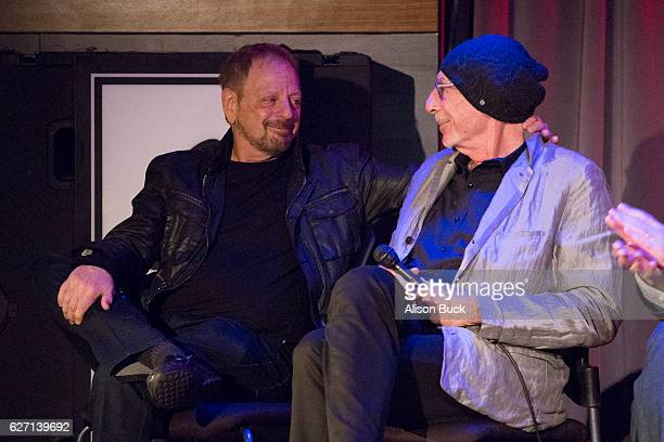 Singer/songwriter Jerry Goldstein and songwriter Jeff Barry onstage during Bert Berns Event at The GRAMMY Museum on December 1 2016 in Los Angeles...