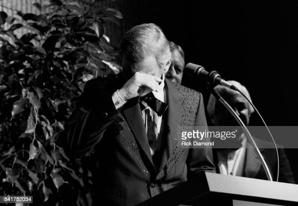 Singer/Songwriter Jerry Reed induction into The Georgia Music Hall of Fame at The Georgia World Congress Center in Atlanta Georgia. September 19, 1987