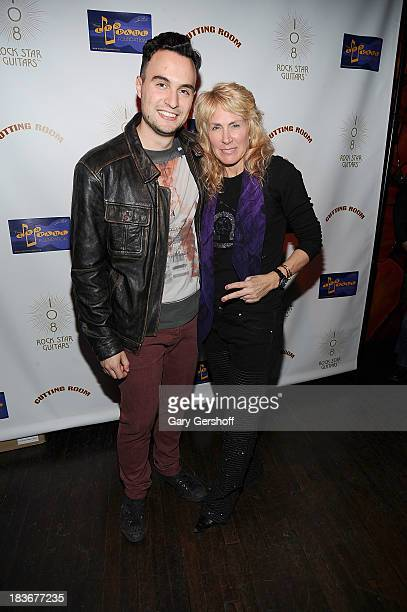 Singersongwriter Jesse Clegg and author and photographer Lisa Johnson attend the book launch and performance for '108 Rock Star Guitars' benefitting...