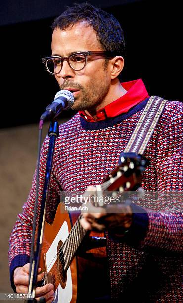 Singer/songwriter Jesse Harris performs during Songwriting 101 at the David Rubenstein Atrium on February 29 2012 in New York City
