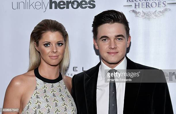 Singersongwriter Jesse McCartney and actress Katie Peterson arrive at the 3rd Annual Unlikely Heroes Awards Dinner and Gala at the Sofitel Hotel on...