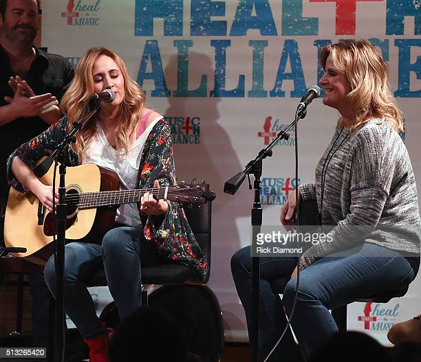 Singer/Songwriter Jessi Alexander and special guest Singer/Songwriter Trisha Yearwood perform togeather during The First And The Worst To Benefit...