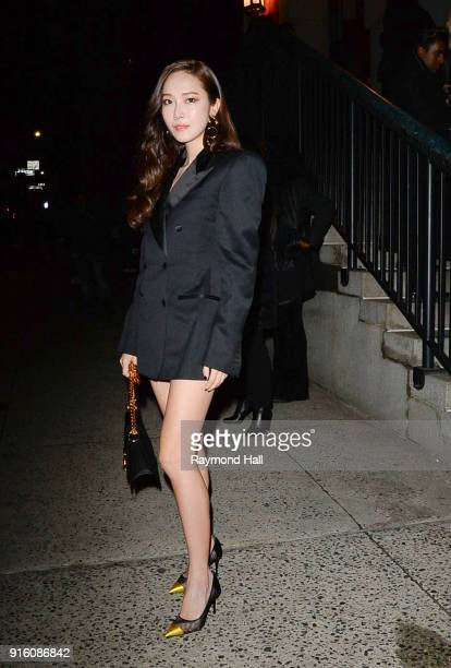 Singersongwriter Jessica Jung is seen arriving to Tom Ford Women's Fall/Winter 2018 fashion show during New York Fashion Week at Park Avenue Armory...