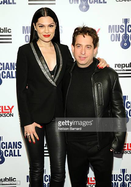 Singer/songwriter Jessie J and Executive Vice President Of Republic Records, Charlie Walk attend Musicians On Call Celebrates Its 15th Anniversary...