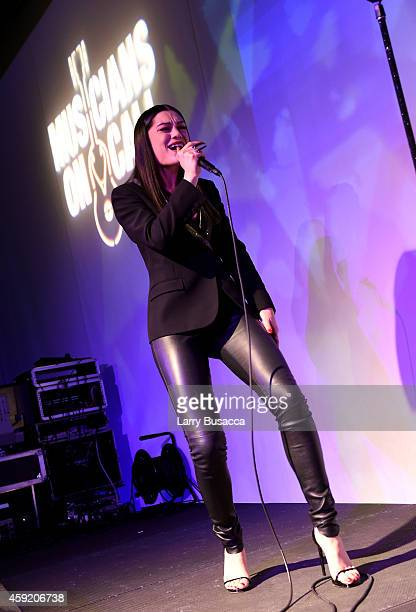 Singer/songwriter Jessie J performs onstage at Musicians On Call Celebrates Its 15th Anniversary Honoring Kelly Clarkson And EVP Of Republic Records,...