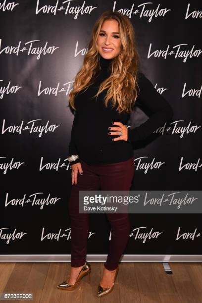 SingerSongwriter Jessie James Decker attends Lord Taylor Holiday Window Unveiling 2017 With Jessie James Decker on November 9 2017 in New York City