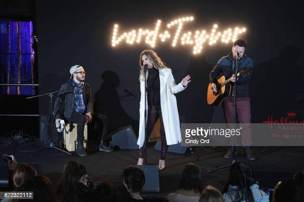 SingerSongwriter Jessie James Decker performs on stage during Lord Taylor Holiday Window Unveiling 2017 With Jessie James Decker on November 9 2017...