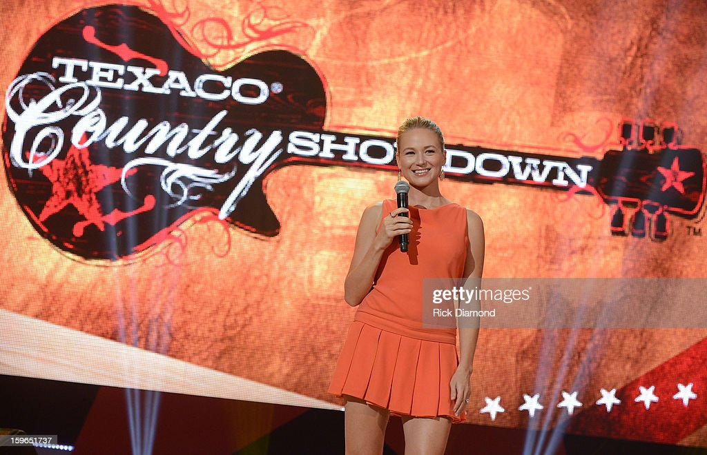 Singer/Songwriter Jewel hosts the 31st annual Texaco Country Showdown National final at the Ryman Auditorium on January 17, 2013 in Nashville, Tennessee.