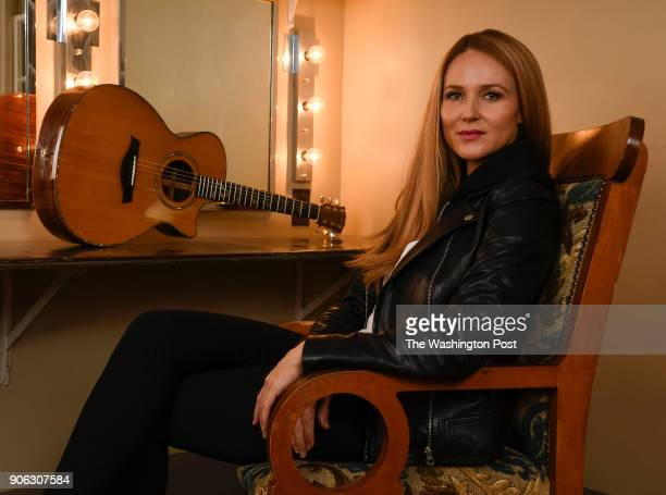 Singersongwriter Jewel in a dressing room at the Hershey Theatre in Hershey Pennsylvania on December 21 2017 before taking the stage on the last...
