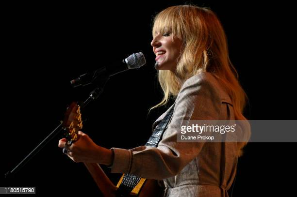 Singer-songwriter Jewel performing during Mindful & Music event on the Inspire Stage presented by Johnson & Johnson during the first day of Wellness...