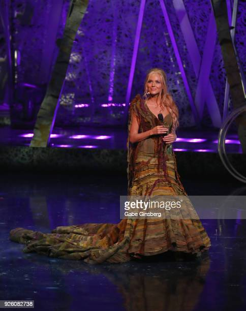 Singer/songwriter Jewel performs during a dress rehearsal for the sixth annual One Night for One Drop imagined by Cirque du Soleil a show that raises...