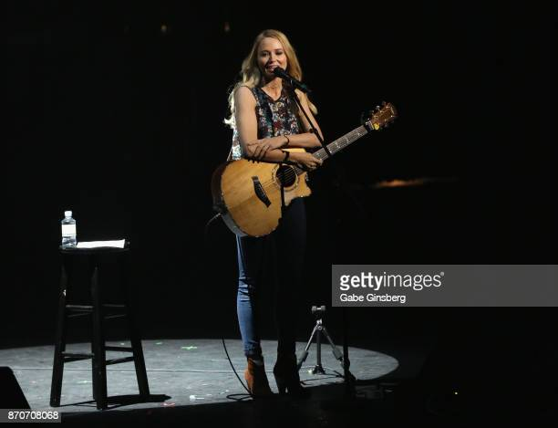 Singer/songwriter Jewel performs during the Vegas Cares benefit at The Venetian Las Vegas honoring victims and first responders of last month's mass...