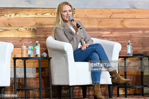 Singer-songwriter Jewel speaks during Healing A Parent Child Relationship on the Inspire Stage presented by Johnson & Johnson during the third day of...