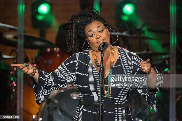 Singer/songwriter Jill Scott performs on stage at Pechanga Casino on August 18 2017 in Temecula California