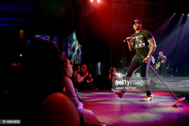 Singersongwriter Jimmie Allen performs onstage for Amazon Music CRS 2018 day 1 monday night showcase featuring Radio PD Ink Awards on February 5 2018...
