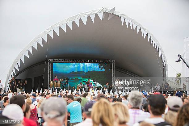 Singer/songwriter Jimmy Buffett performs on stage at FinFest on August 9 2014 in Hermosa Beach California