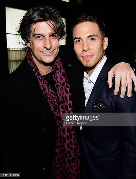 Singersongwriter Jimmy Demers and Olympic speed skater Apolo Ohno attend Global Green USA's 13th annual preOscar party at Mr C Beverly Hills on...